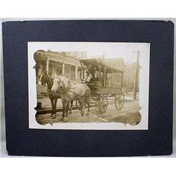 C. 1900'S U.S. EXPRESS CO. HORSE DRAWN FREIGHT WAG