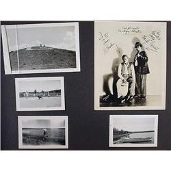 C. 1930'S PHOTO ALBUM W/ PHOTOS - Front cover is d