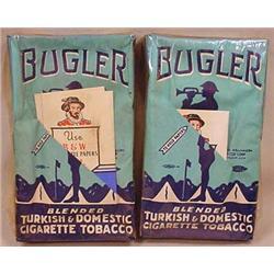 LOT OF 2 VINTAGE BUGLER CIGARETTES - UNOPENED!
