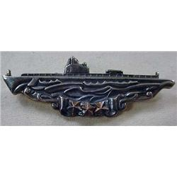 WW2 STERLING SILVER US SUBMARINE BADGE