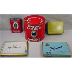 LOT OF 5 VINTAGE TOBACCO TINS - Incl. Dill's Best,