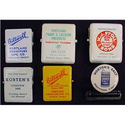 LOT OF 6 VINTAGE ADVERTISING CLIPS - Many Portland