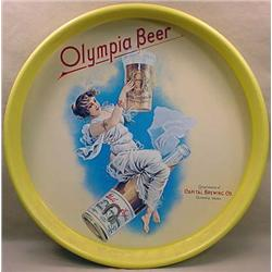 """OLYMPIA BEER ADVERTISING TRAY - Approx. 13"""" Diam."""