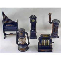 LOT OF 5 FIGURAL PENCIL SHARPENERS - Incl. Pipe Or