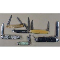 LOT OF 6 VINTAGE POCKET KNIVES