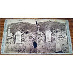 RARE 1870'S PHOTO STEREOVIEW CARD OF WILD BILL HIC
