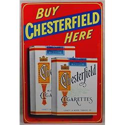 C. 1950'S CHESTERFIELD CIGARETTES ADVERTISING SIGN