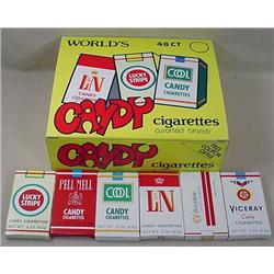 VINTAGE CANDY CIGARETTES STORE ADVERTISING DISPLAY