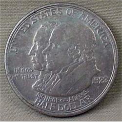 1923-S MONROE ADAMS COMMEMORATIVE HALF DOLLAR - F-