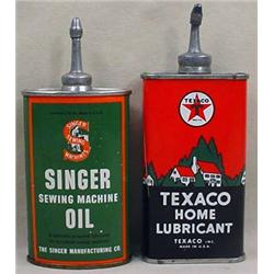 LOT OF 2 VINTAGE OIL ADVERTISING TINS - Texaco and