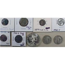 LOT OF 9 COINS MOSTLY U.S. - 1925-D, 1931-S Buffal