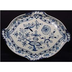 ANTIQUE MEISSEN BLUE ONION SERVING TRAY - Approx.