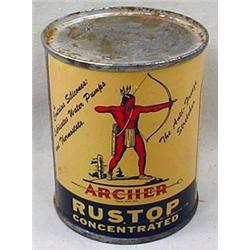 C. 1930'S ARCHER OIL ADVERTISING TIN - NEVER OPENE