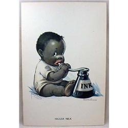 1916 BLACK AMERICANA PRINT - NI**ER MILK