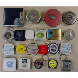 LOT OF 21 TAPE MEASURES - INCL. ADVERTISING, VINTA