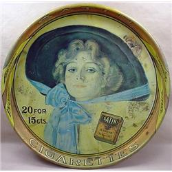SATIN TURKISH CIGARETTES ADVERTISING TRAY - Some C