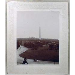C. 1900'S MOUNTED PHOTO OF WASHINGTON MONUMENT - L