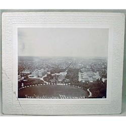 C. 1900'S MOUNTED PHOTO OF WASHINGTON DC AND THE W