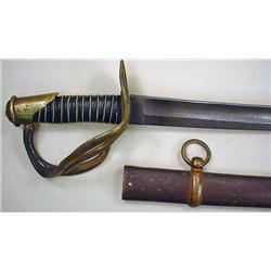 CIVIL WAR ERA CAVALRY SWORD W/ SCABBARD - Unmarked