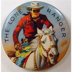 C. 1940'S LONE RANGER CELLULOID PINBACK BUTTON - A
