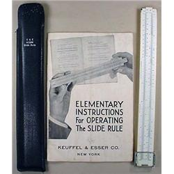 C. 1928 KEUFFEL AND ESSER SLIDE RULE IN CASE - Has