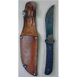 EARLY REMINGTON RH4 HUNTING KNIFE W/ SHEATH