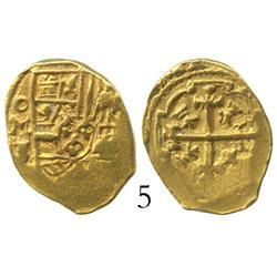 Mexico City, Mexico, cob 1 escudo, (1712)J, from the 1715 Fleet, with Real Eight pedigree.