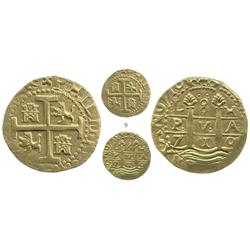Lima, Peru, cob 8 escudos, 1710H, 2 dates, from the 1715 Fleet, choice.