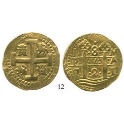 Lima, Peru, cob 8 escudos, 1721M.