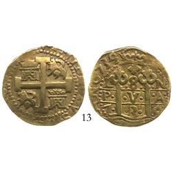 Lima, Peru, cob 8 escudos, 1735/4N.