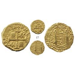 Lima, Peru, cob 2 escudos, 170?H, from the 1715 Fleet.