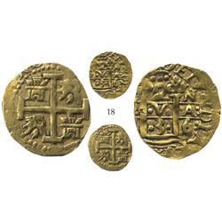 Lima, Peru, cob 2 escudos, 1736/5N, very rare.