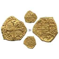 Cuzco, Peru, cob 2 escudos, 1698M, from the 1715 Fleet.