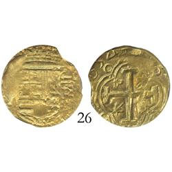 Bogota, Colombia, cob 2 escudos, 1654(R), encapsulated NGC AU-53, from the Maravillas (1656).
