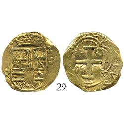 Bogota, Colombia, cob 2 escudos, (167)6R, Charles II, unique error with king's name in reverse legen