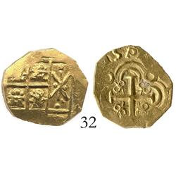 Bogota, Colombia, cob 2 escudos, posthumous Charles II, from the 1715 Fleet, choice.