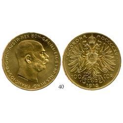 Austria, 100 corona, 1915 (restrike).
