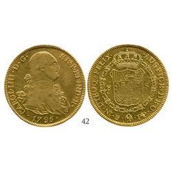 Potosi, Bolivia, bust 8 escudos, Charles IV, 1795PP.