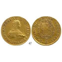 Santiago, Chile, bust 8 escudos, Ferdinand VI, 1751J.