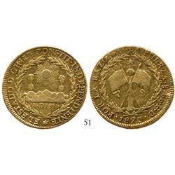 Santiago, Chile, 8 escudos, 1820FD.