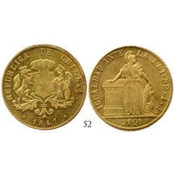 Santiago, Chile, 8 escudos, 1841IJ, ex-Eliasberg.