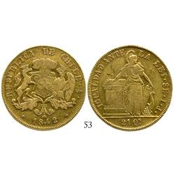 Santiago, Chile, 8 escudos, 1842IJ.
