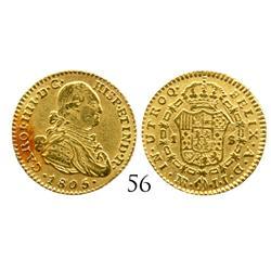 Bogota, Colombia, bust 1 escudo, Charles IV, 1805JJ.