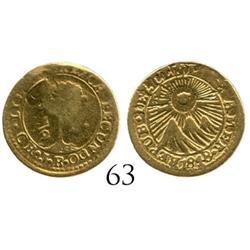Costa Rica, 1/2 escudo, 1848.
