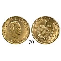Cuba, 4 pesos, 1916.