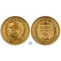 Dominican Republic, 30 pesos, 1955, Trujillo anniversary.