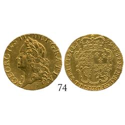 London, England, half guinea, George II, 1759, from the HMS Anson (1807), rare provenance.