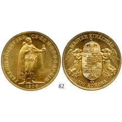 Hungary, 100 korona, 1908 (restrike).
