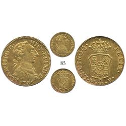 Mexico City, Mexico, bust 1 escudo, Charles III, 1765MF, encapsulated PCGS AU-58, ex-Eliasberg.