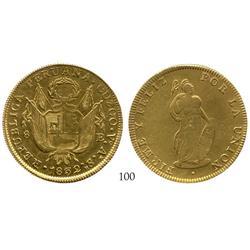 Cuzco, Peru, 8 escudos, 1832VoArSh.